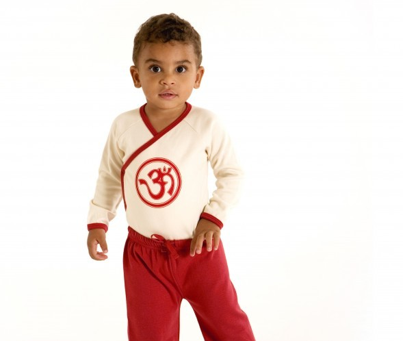 Baby clothing organic cotton kimono onesie and pants set