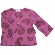 Berry Paisley Kurta Shirt