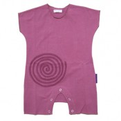 Berry Spiral Applique Onesie
