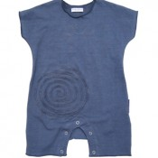Midnight Spiral Applique Onesie