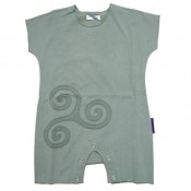 Mint-ash Celtic Applique Onesie